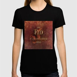 And RED to call enchantment down. Shadowhunter Children's Rhyme. T-shirt