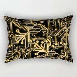 Techno Organic  Rectangular Pillow