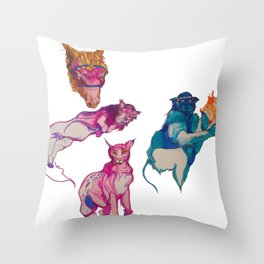 cool beasts Throw Pillow