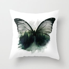 Double Butterfly Throw Pillow