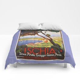 Ischia Island Italy summer travel ad Comforters