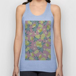 Lemon Twist Vibes #2 #tropical #fruit #decor #art #society6 Unisex Tank Top