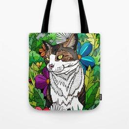 Ellie in the woods Tote Bag