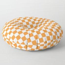 Orange Checkerboard Pattern Floor Pillow