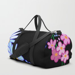 Abstract flowers frame Duffle Bag