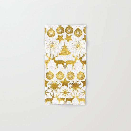 Gold Christmas 04 Hand & Bath Towel