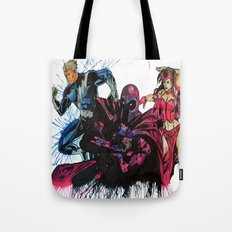 Magneto, Quicksilver, Scarlet Witch Tote Bag