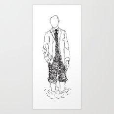 Standing is Fun Art Print