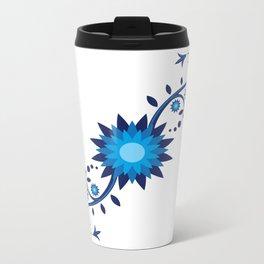 Flowers Metal Travel Mug