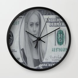 Lindsay Lohan money Wall Clock