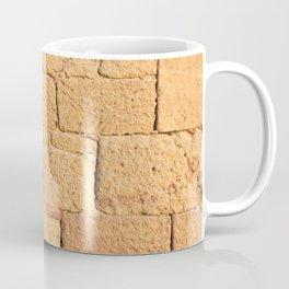 Close up view of an ancient smooth textured brick wall Coffee Mug