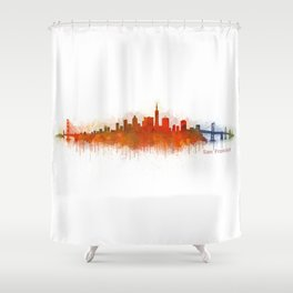 San Francisco City Skyline Hq v3 Shower Curtain