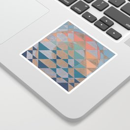 Circles and Triangles Sticker