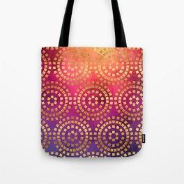Summer Heat Geometric Pattern Tote Bag