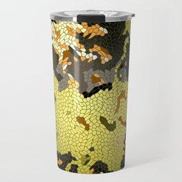 Abstract leaves mosaik Travel Mug