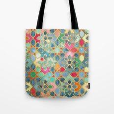 Gilt & Glory - Colorful Moroccan Mosaic Tote Bag