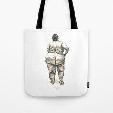 Woman in Shower Tote Bag