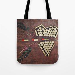 Bullet through the heart Tote Bag