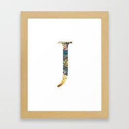 """Initial letter """"J"""" Framed Art Print"""