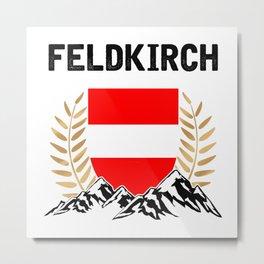 Feldkirch Austria Alps TShirt Austria Flag Shirt Austrian Alps Gift Idea  Metal Print