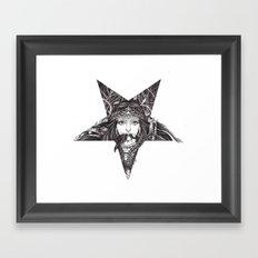 Lady of the Dark Star. Framed Art Print