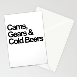 Cams, Gears & Cold Beers  Stationery Cards