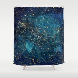 Star Map City Lights Shower Curtain