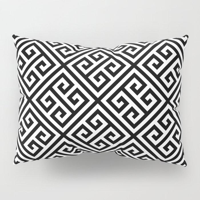 black and white pattern , Greek Key pattern -  Greek fret design Pillow Sham