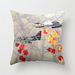 World Rose I Throw Pillow