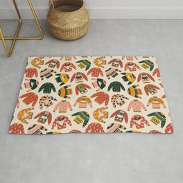 Ugly Christmas Sweaters Vintage Colors Rug