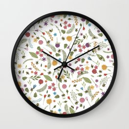 Bees in spring Wall Clock