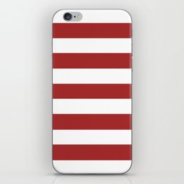 Auburn - solid color - white stripes pattern iPhone Skin