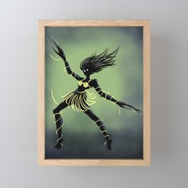 Creepy Midnight Dancing Girl Framed Mini Art Print