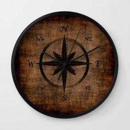 Nostalgic Old Compass Rose Wall Clock