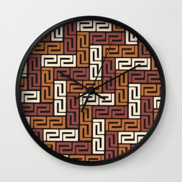 African Kuba Cloth 5 Wall Clock