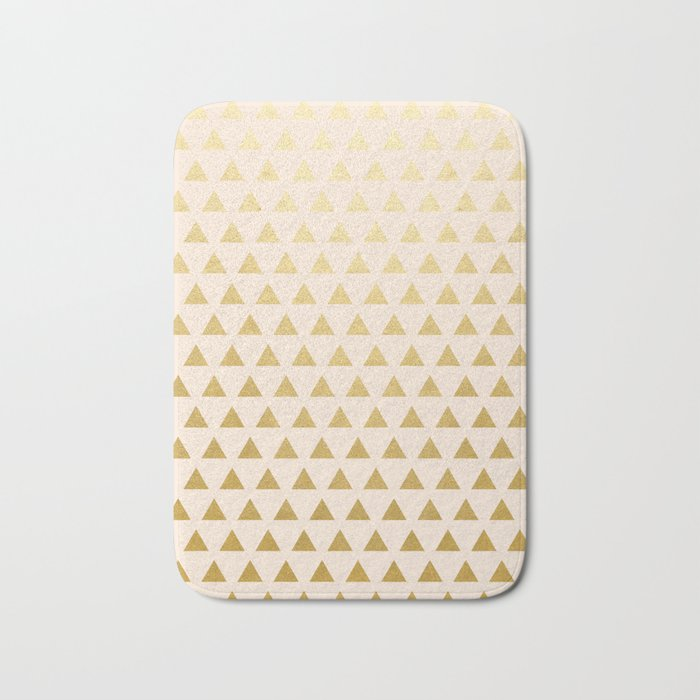Blush + Gold Triangles #society6 #decor #buyart Bath Mat