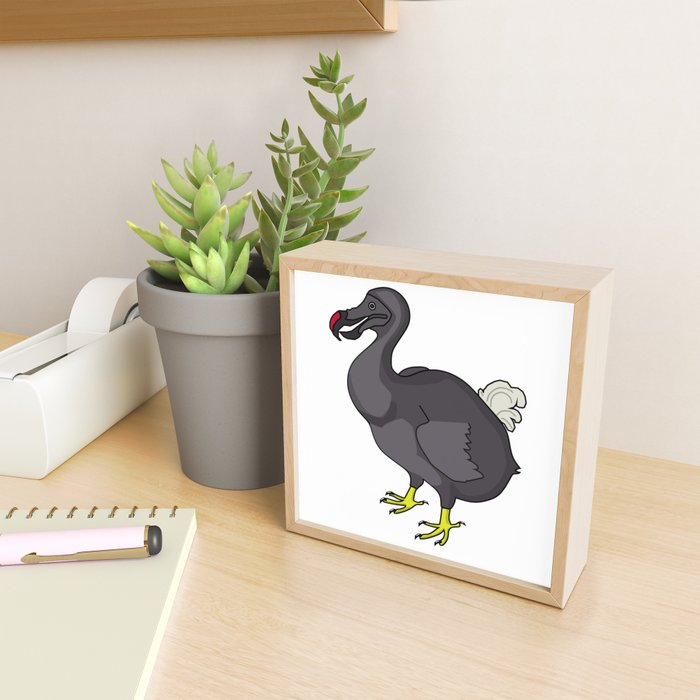 Silly Dodo Framed Mini Art Print