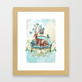 Deer me Framed Art Print