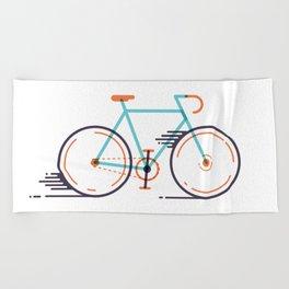 speed bike Beach Towel