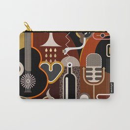 Abstract Music Background Carry-All Pouch