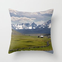 Sawtooths from Lower Stanley, Idaho Throw Pillow