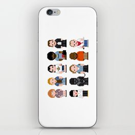 Pixel Pulp Fiction Characters iPhone Skin