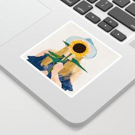 Miss Sunflower    Sticker