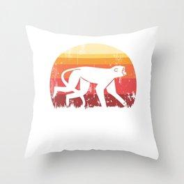 Monkey vintage Throw Pillow