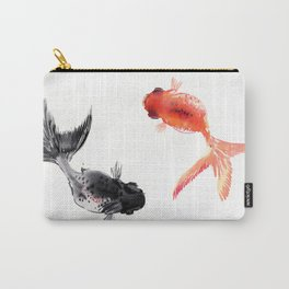 Two KOI , Feng Shui, Fish art, Carry-All Pouch