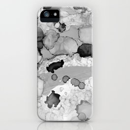 Design 117 Greyscale Abstract iPhone Case