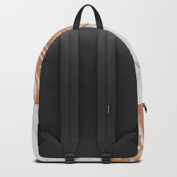 Copper mandala on marble Backpack