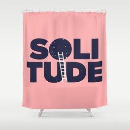 happy solitude Shower Curtain