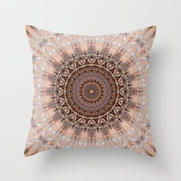 Mandala romantic pink Throw Pillow