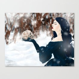 The cold bite of Winter Canvas Print